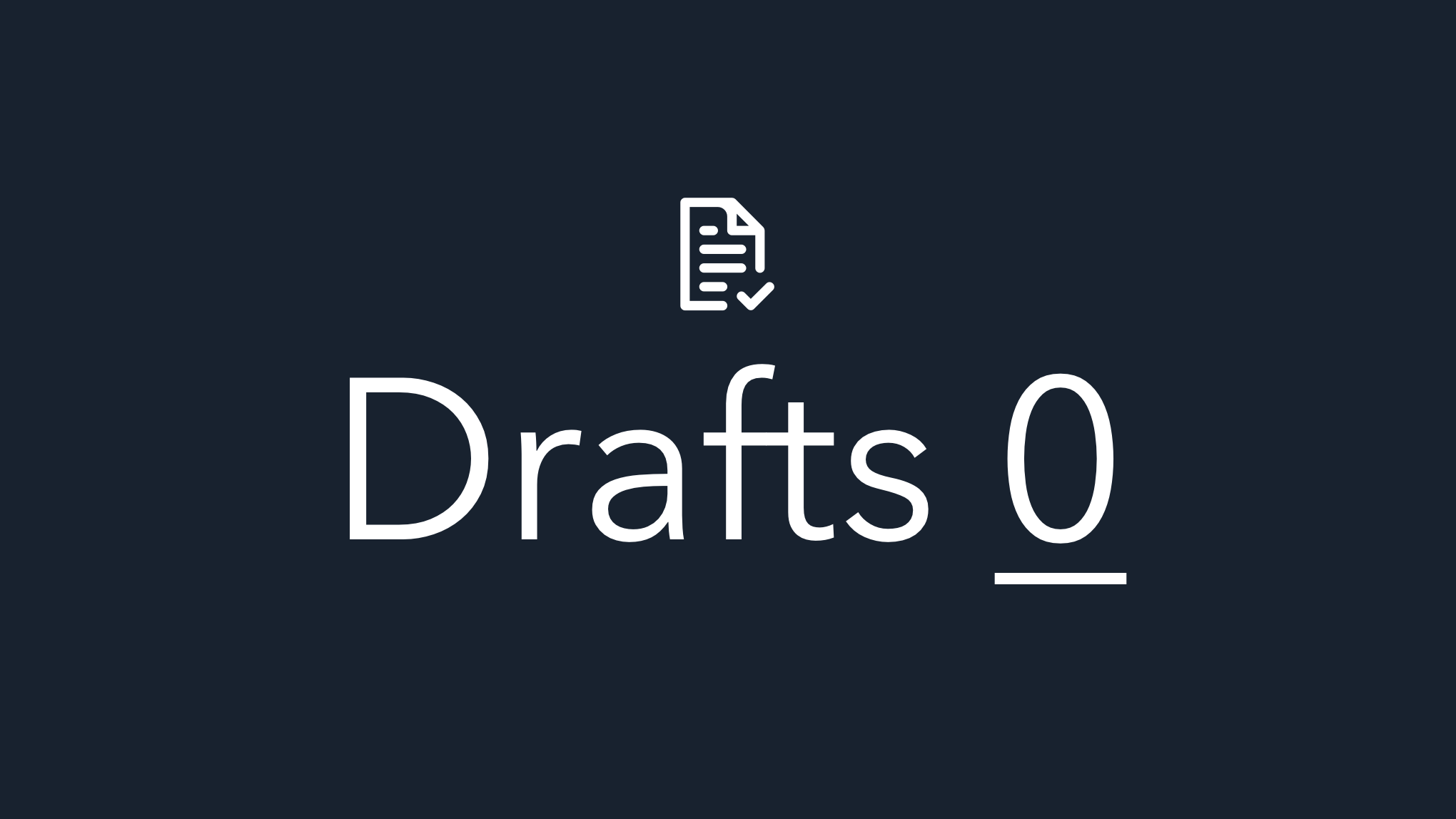 Drafts Zero